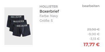 3er Pack Hollister Boxershorts in versch. Ausführungen & Designs ab 17,77€ (statt 34€)