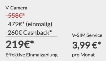 2x Arlo Go Kamera für 479€ + 260€ Cashback inkl. 40GB LTE mtl. für 3,99€ mtl.