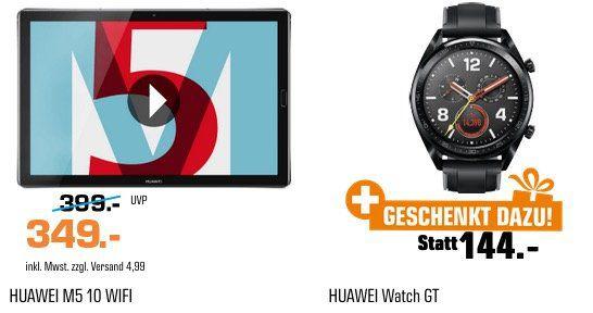 HUAWEI MediaPad M5 mit 32GB + HUAWEI Watch GT Smartwatch ab 349€ (statt 416€)