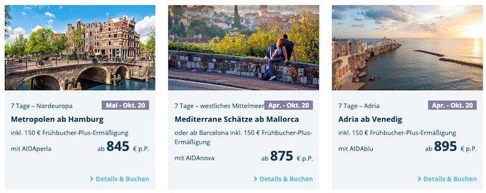 🚢 AIDA Familien Krauzfahrten   z.B. 7 Tage westliches Mittelmeer von April   Oktober 2020 ab 875€ p.P.