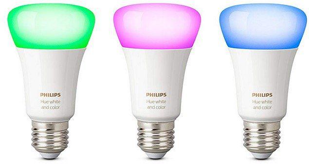 Abgelaufen! Philips Hue White und Color Ambiance E27 LED Starter Set mit 3 Birnen für 90€(statt 147€)