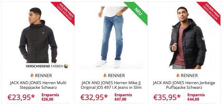 Jack&Jones: Pullover, Hoodies und Sweater bis zu 75%   z.B. Steppjacke Schwarz nur 23,95€ (vorher 49,95€)