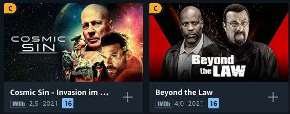 Amazon Freitag Filme Abend: Filme in HD für je 0,99€ leihen