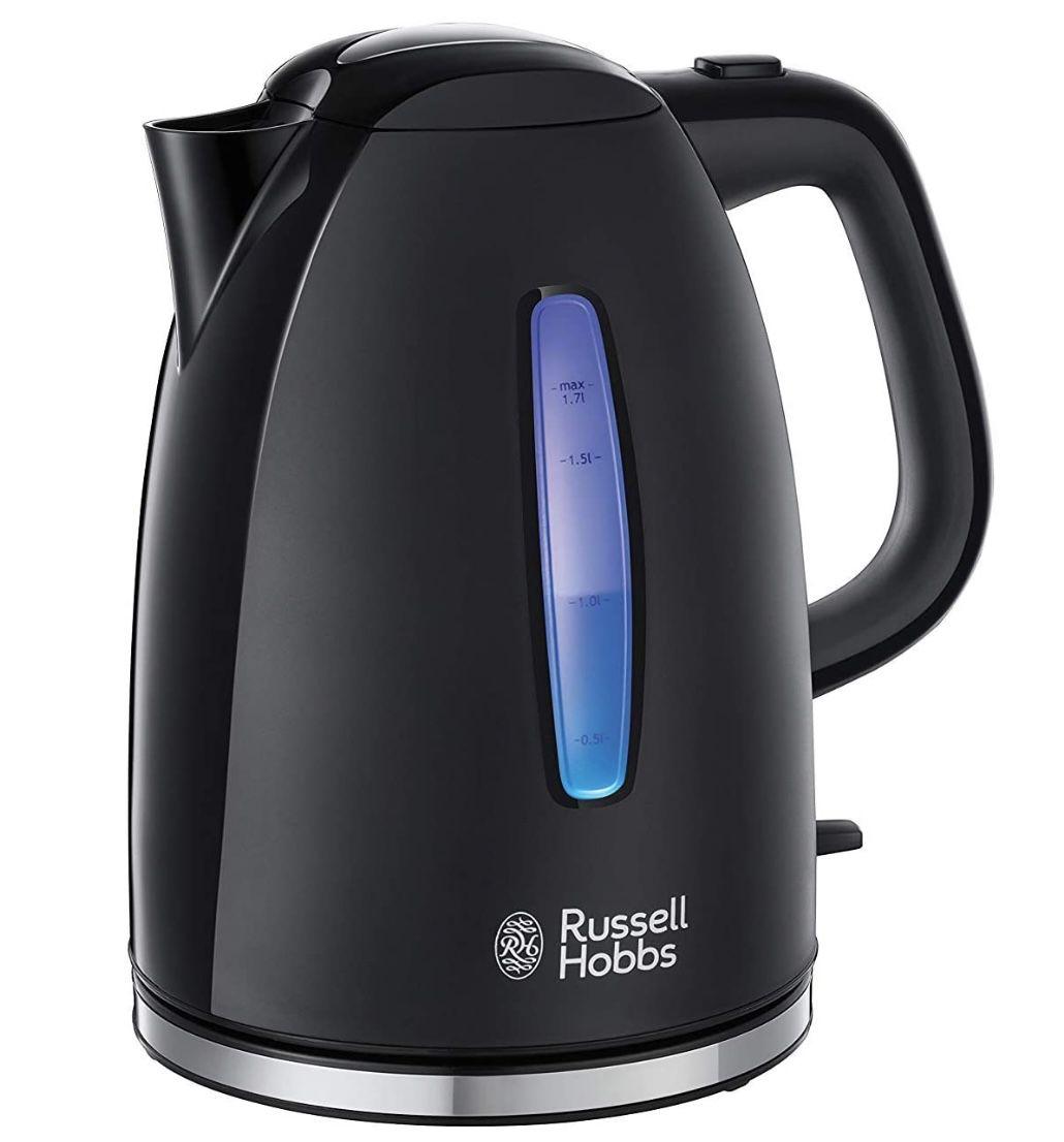 RUSSELL HOBBS 22591 70 Wasserkocher Textures+ in Schwarz für 17,99€ (statt 26€)   Prime