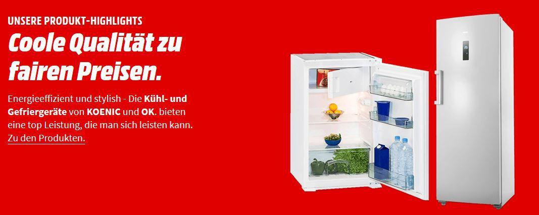 KOENIC  & OK günstige Kühlgefrierkombination, Kühlschränke, Einbaugeräte und Gefriergeräte ab 99€