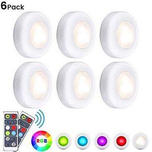 6er Pack Elfeland RGB Led Nachtlichter mit Fernbedienung mit 4 Dimmstufen für 11,99€ (statt 19€)