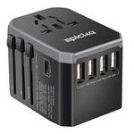 HUANUO Reiseadapter mit 4 USB-Ports für 9,99€ (statt 17€) – Prime