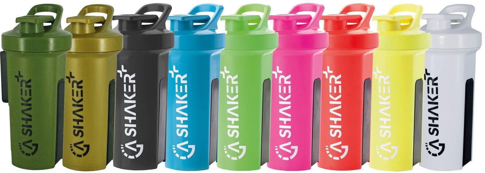 GA Shaker+ Das Original:  Protein Shaker 1000ml Trinkflasche mit Zusatzfunktionen für 21,50€ (statt 26€)