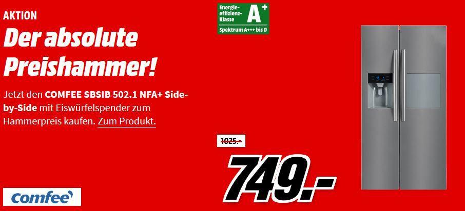 Comfee SBSIB 502.1 NFA+ Side by Side mit NoFrost für 749€ (statt 1.039€)