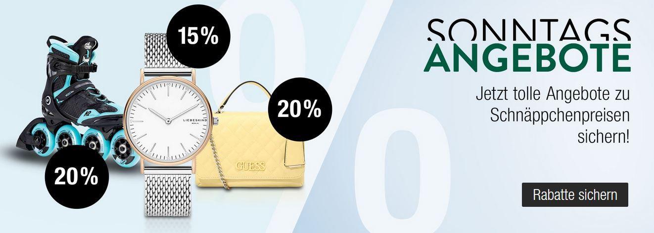 Galeria Kaufhof Sonntag: viele coole Angebote: z.B. 20% Rabatt auf Bugatti & Camel active Herren & Damen Fashion uvam