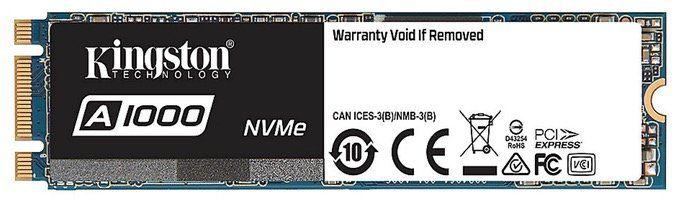 Kingston A1000 SSD M.2 960GB NVMe TLC für 108€ (statt 135€)