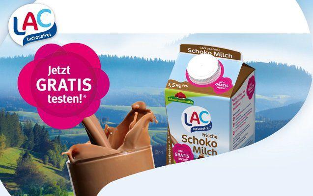 LAC lactosefreie frische Schokomilch gratis