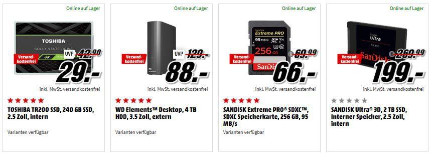 Media Markt GiGaGünstig Sale: PC Hardware & Zubehör reduziert z.B. TREKSTOR Primebook P14 Notebook für 239€ (statt 304€)