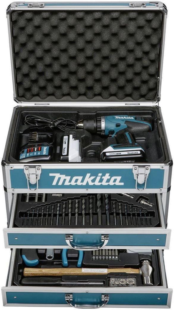 Makita Df457dwex6 Akkuschrauber 2 X 1 3 Ah Akkus Zubehör Koffer Für 219