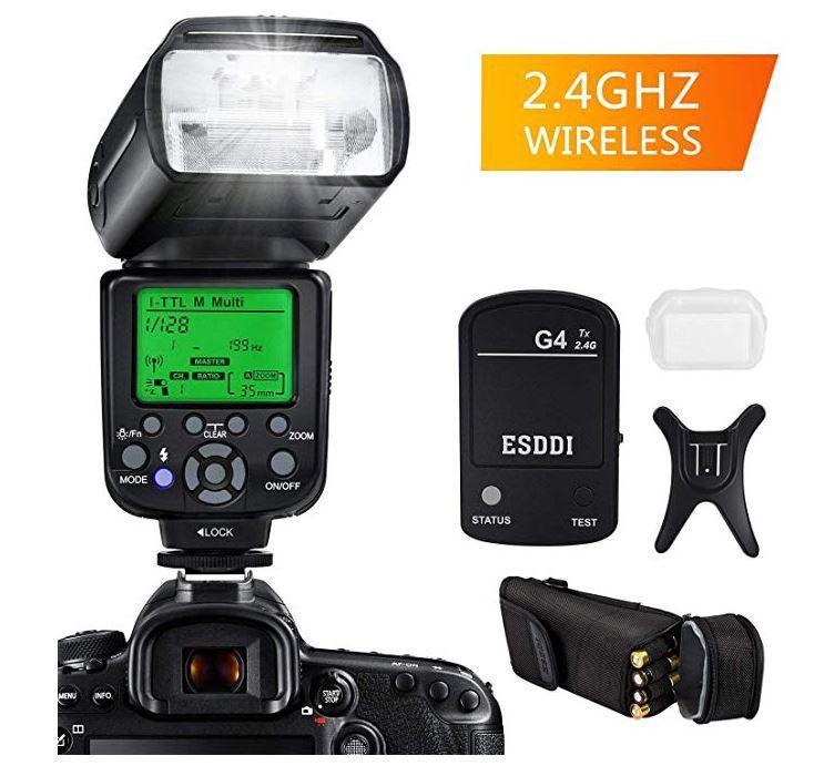 ESDDI Blitzgerät für Nikon Spiegelreflex Kameras für nur 45,49€ (statt 70€)