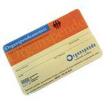 Organspendeausweis als Plastikkarte gratis nach Hause