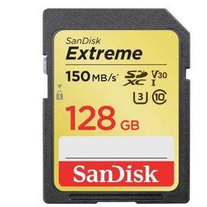 SanDisk Extreme 128GB SDXC mit 150 MB/Sek. für 28€ (statt 32€)