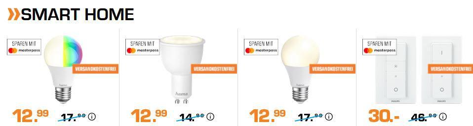 Saturn Smart Home Late Night Shopping: z.B. Google Home Mini Lautsprecher + Ednet WiFi Steckdose für 49€ (statt 58€)
