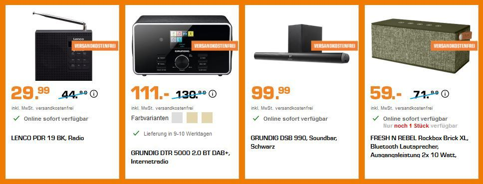 Saturn Sound Aktion: z.B. PEAQ PDR 360 BT B DAB+ Internetradio für 159€ (statt 194€)