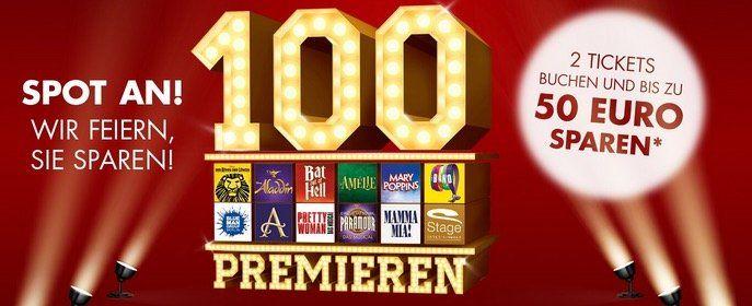 2 Tickets bei Stage Entertainment kaufen + bis zu 50€ sparen