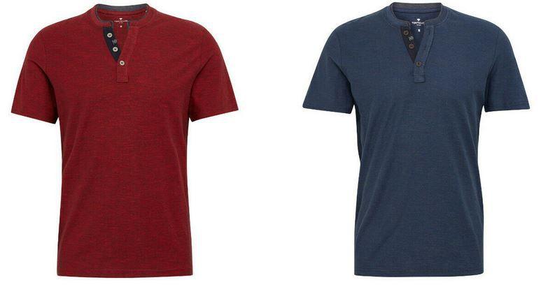 Tom Tailor Henley Herren T Shirts in 4 Farben für je 18,99€ (statt 22€)