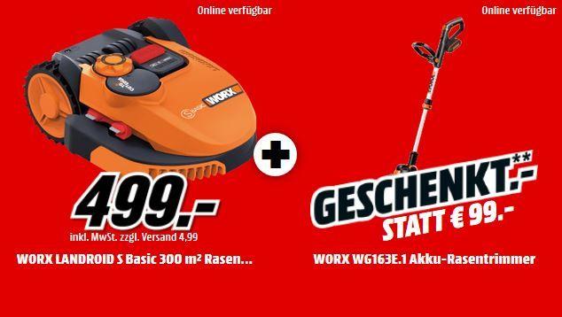 WORX WR090S Landroid S Mähroboter + WORX WG163E.1 Akku Rasentrimmer für 499€ (statt 628€)