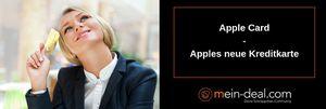 Bezahlen via Apple Card: Apple führt Kreditkarte ein!