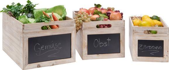 3er Pack Holz Aufbewahrungsboxen mit Tafel an der Vorderseite für 18,75€ (statt 33€)