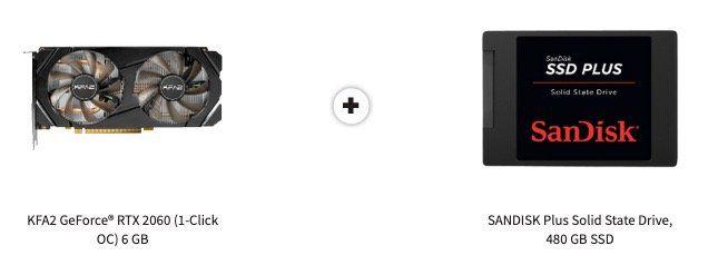 MediaMarkt: GeForce RTX2060 kaufen + SanDisk Plus 480GB SSD geschenkt   einige gute Beispiele