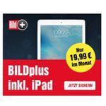 BILDplus Premium 24-Monats-Abo für 19,99€ mtl. + Apple iPad 2018 32GB geschenkt