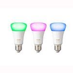 Abgelaufen! Philips Hue White und Color Ambiance E27 LED-Starter Set mit 3 Birnen für 90€(statt 147€)
