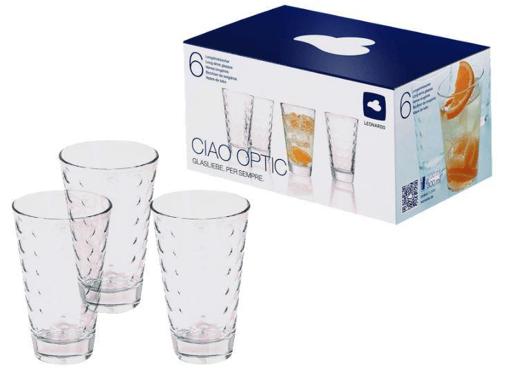 LEONARDO Ciao Optic  6 Gläser Set (je 0,3L) für nun 8€