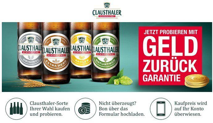 Kostenloses alkoholfreies Clausthaler Bier