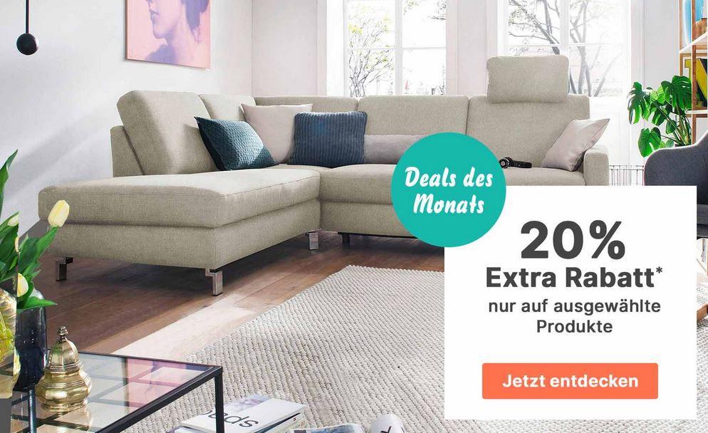 Cnouch mit 20% auf ausgewählte Möbel. + VSK frei ab 50€