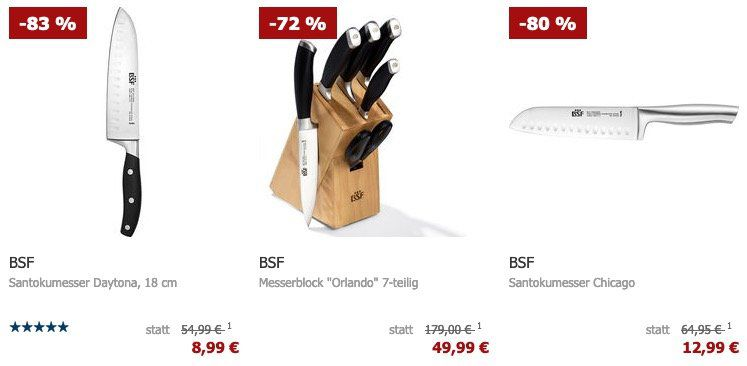 Karstadt: BSF Messer aus der Serie Daytona reduziert z.B. Santokumesser Daytona 18cm 7,64€ (statt 20€)