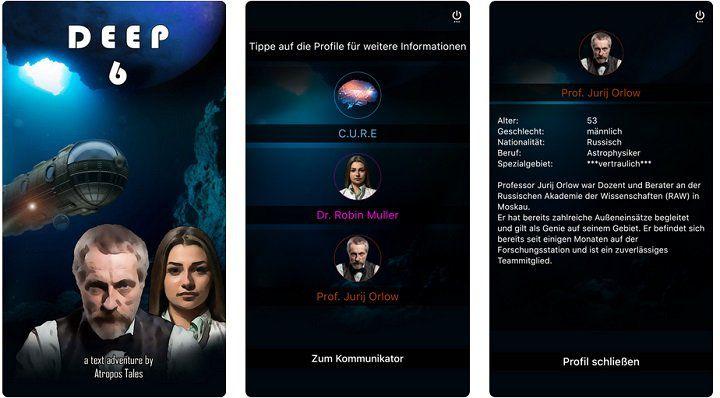 iOS: Abenteuerspiel Deep 6 kostenlos (statt 2,29€)