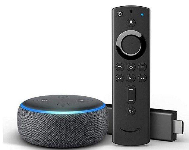 Fire TV Stick mit Alexa Sprachfernbedienung + Echo Dot 3. Gen. für 49,99€ (statt 84€)