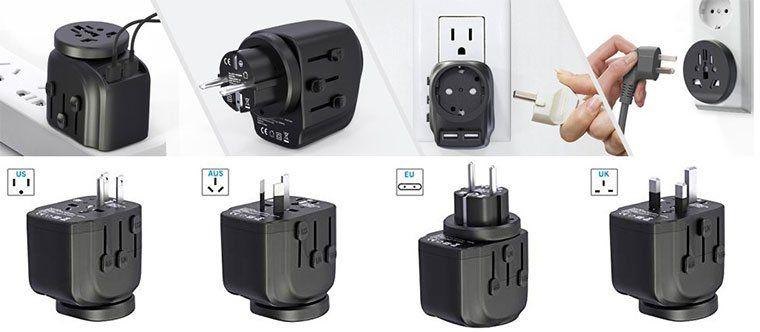 CHUNNUO 2in1 Reiseadapter mit USB Anschluss für 16,99€ (statt 26€)