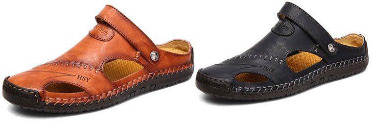 Atmungsaktive Sandalen aus Rindsleder in 3 Farben für je 32,40€