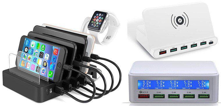 25% Rabatt auf diverse Multi Port USB Ladestationen mit bis zu 60W ab 22,49€