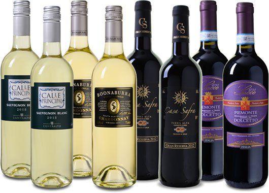8 Flaschen: Wein Probierpaket Frühling mit u.a. Calle Principal Sauvignon Blanc für 39,99€
