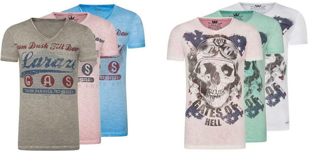 Larazé Herren Print Logo Shirts 40 Modelle bis 2XL für je 9,95€ (statt 14€)