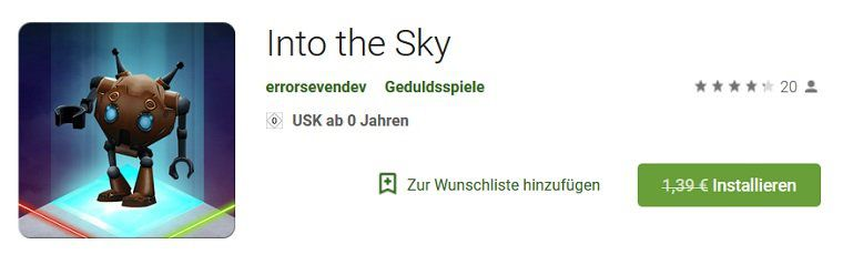 Android: Into the Sky kostenlos (statt 1,39€)