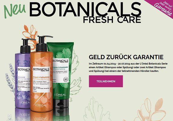 Aus der LOréal Botanicals Serie für 2 Produkte Geld zurück