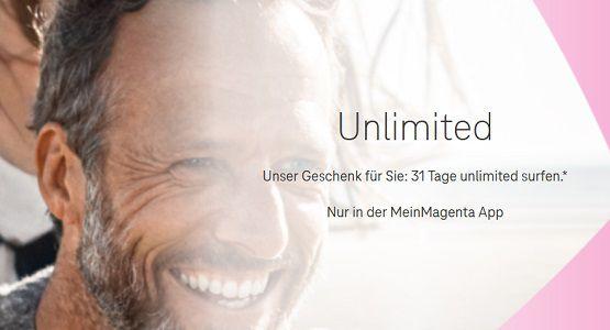 MeinMagenta App: 31 Tag unbegrenzt surfen für Telekom Mobilfunkkunden