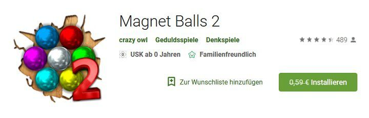 Android: Magnet Balls 2 kostenlos (statt 0,59€)