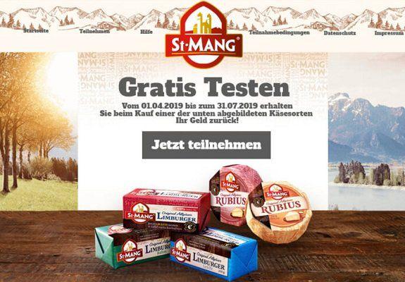 Geld zurück für verschiedene Käsesorten von St. Mang