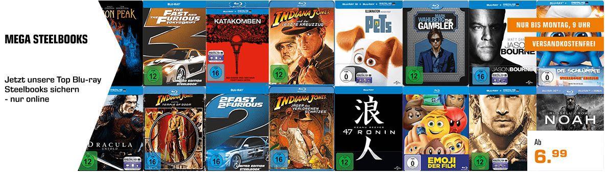 Saturn Entertainment XXL Weekend Deals: z.B. Nintendo Switch Joy Con Controller für 24€ (statt 44€) Mega Steelbooks Aktion