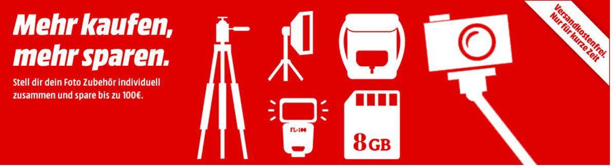 Tip: Media Markt Staffel Rabatt bis 100 € auf Foto, Action Cams, Zubehör und Co.