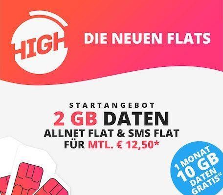 Sparhandy HIGH LTE Tarife im Telekom Netz   z.B. Allnet Flat mit 8GB LTE nur 25€mtl.